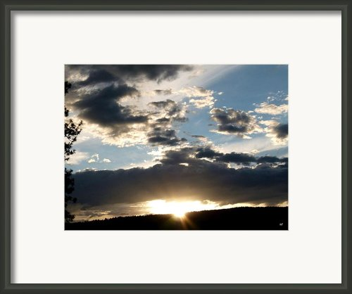 Evening Radiance Framed Print By Will Borden