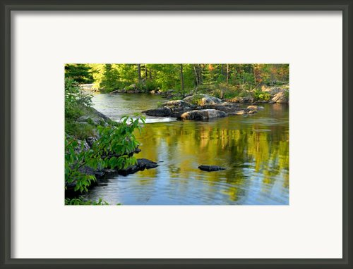 Evening Reflections At Lower Basswood Falls Framed Print By Larry Ricker