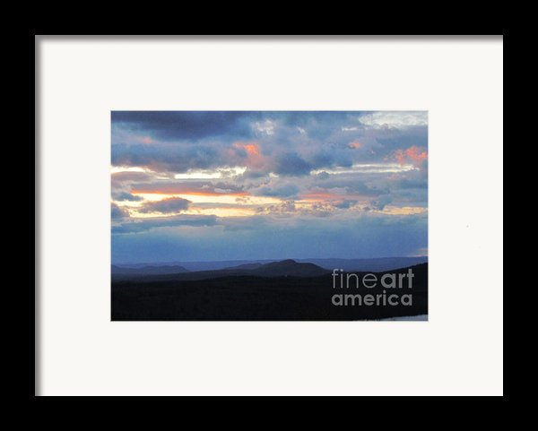 Evening Sky Over The Quabbin Framed Print By Randi Shenkman