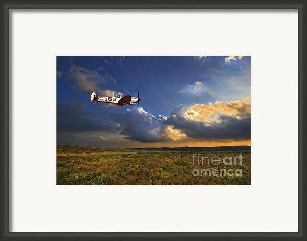 Evening Spitfire Framed Print By Meirion Matthias