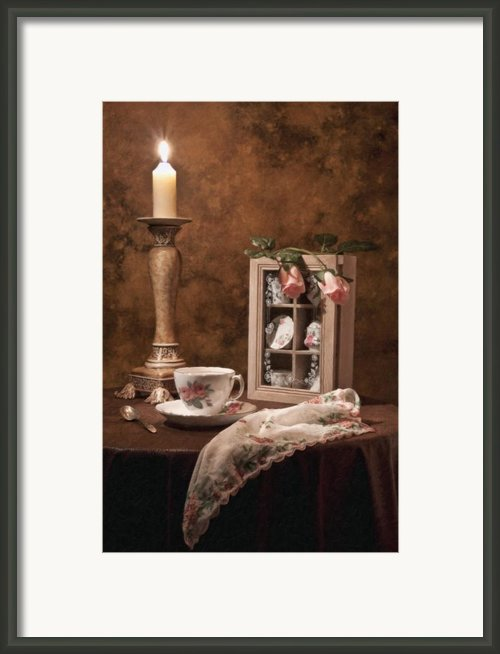 Evening Tea Still Life Framed Print By Tom Mc Nemar