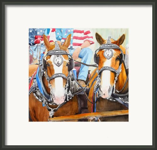 Everybody Loves A Parade Framed Print By Ally Benbrook