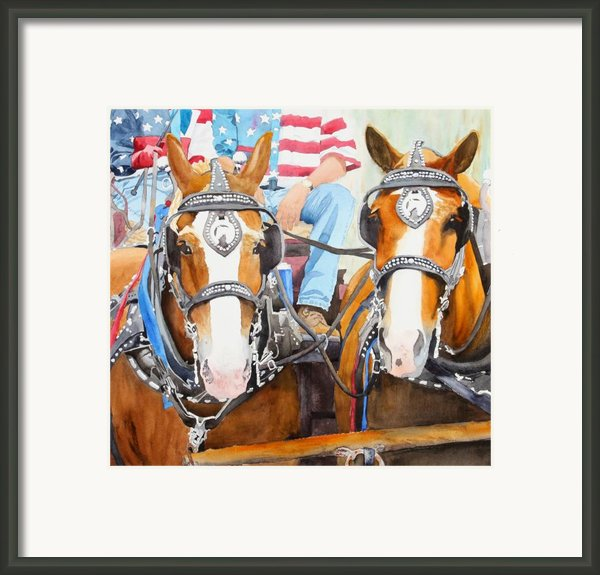 Everybody Loves A Parade Framed Print By Ally Benbrook