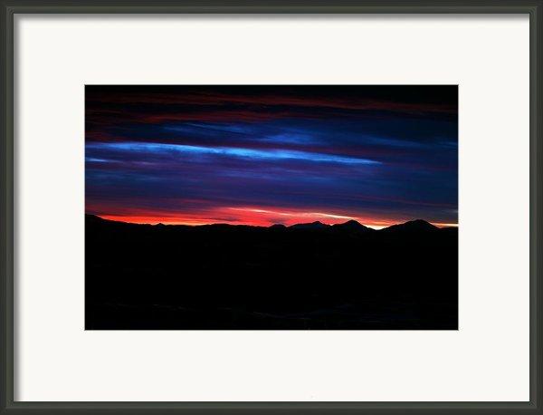 Evil Blue Sky Framed Print By Kevin Bone