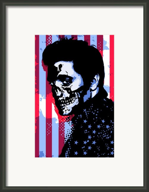 Evil Elvis Framed Print By Tom Deacon