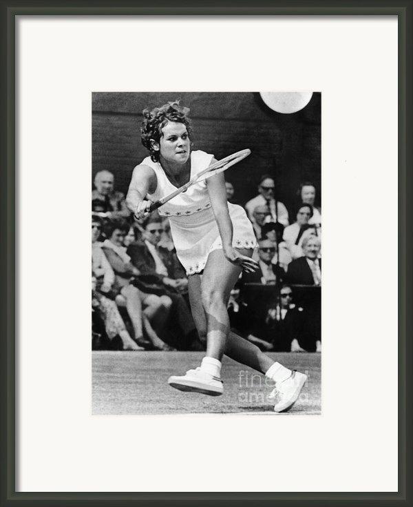 Evonne Goolagong (1951- ) Framed Print By Granger