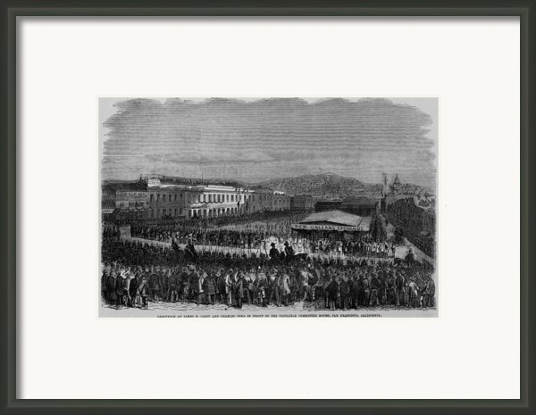 Execution Of James P. Casey And Charles Framed Print By Everett