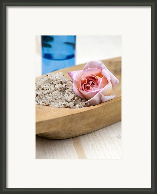 Exfoliating Body Scrub From Sea Salt And Rose Petals Framed Print By Frank Tschakert