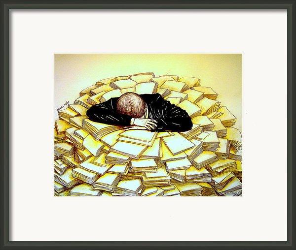 Exhaustive Bureaucracy Framed Print By Paulo Zerbato