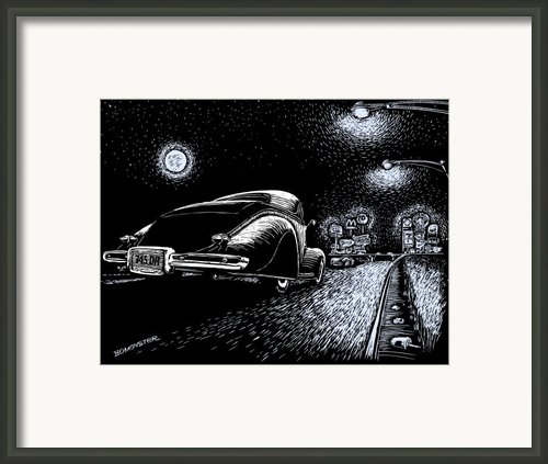Exit Ramp Framed Print By Bomonster