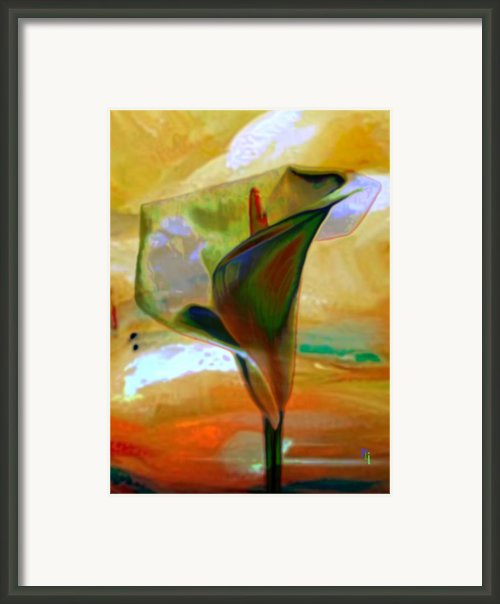 Exotic Calla Lilly Framed Print By Byron Fli Walker