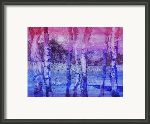 Experimantal Trees Framed Print By Ron Stephens