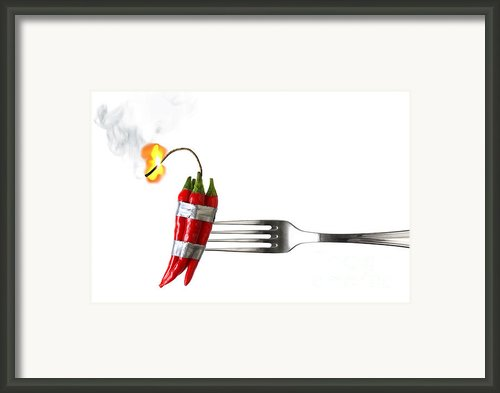 Explosive Food Framed Print By Carlos Caetano