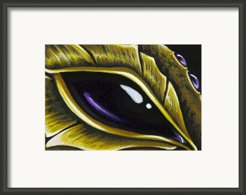 Eye Of Deep Amethyst Framed Print By Elaina  Wagner