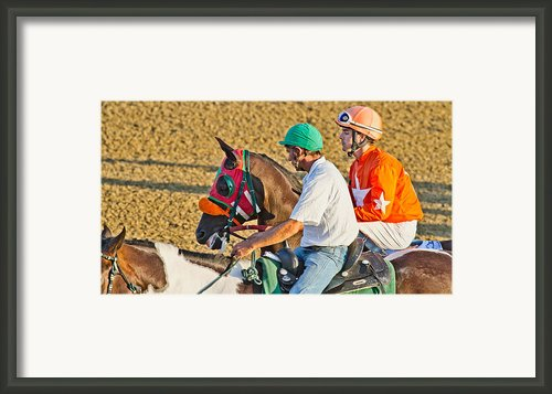 Eye On The Athlete  Framed Print By Betsy A Cutler East Coast Barrier Islands