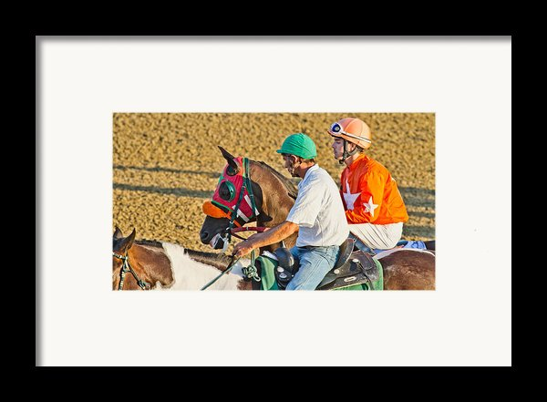 Eye On The Athlete  Framed Print By Betsy A  Cutler