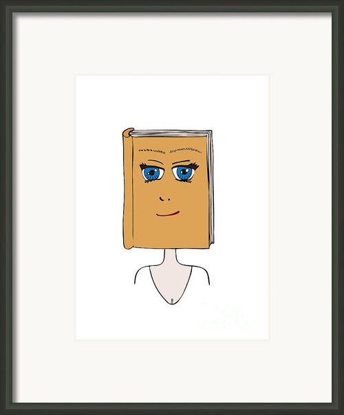 Face Book Framed Print By Frank Tschakert