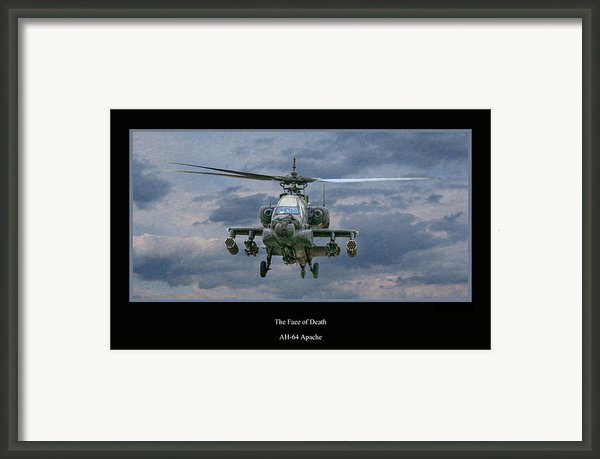 Face Of Death Ah-64 Apache Helicopter Framed Print By Randy Steele