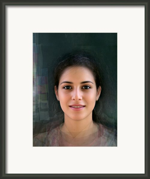 Face Of Tomorrow Tel Aviv Female Composite Framed Print By Mike Mike