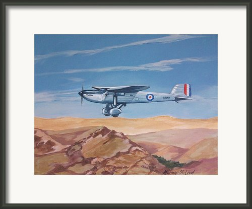 Fairey Long Range Framed Print By Murray Mcleod