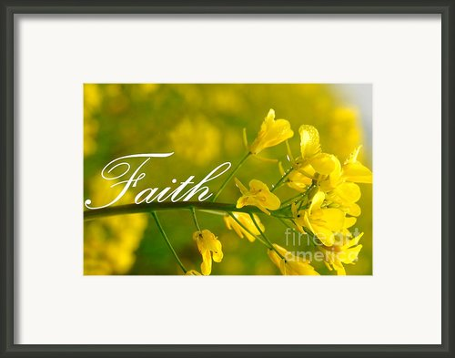 Faith Framed Print By Lj Lambert