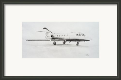Falcon 20 Alone On The Ramp Framed Print By Nicholas Linehan