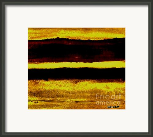 Fall Afternoon Abstract Framed Print By Marsha Heiken