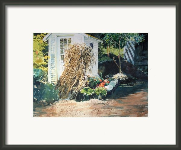 Fall At Ivy Corners Framed Print By Elizabeth Carr