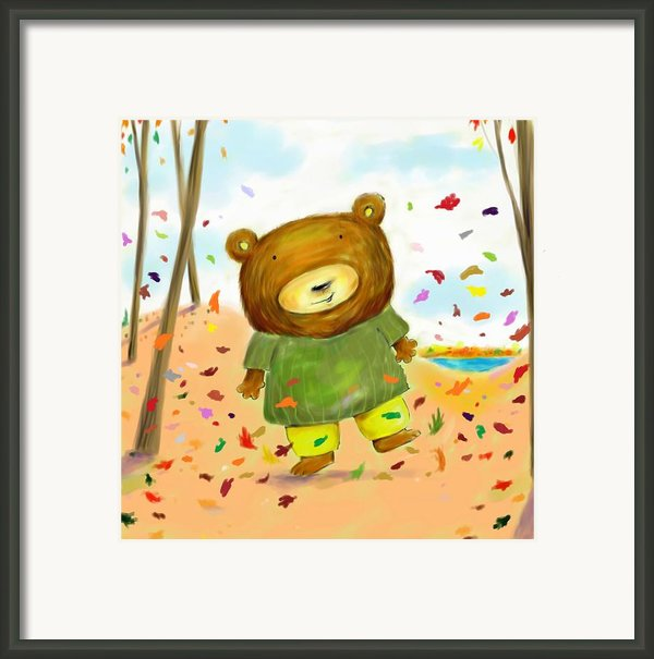 Fall Bear Framed Print By Scott Nelson