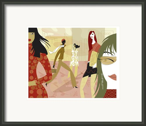 Fall Fashion Framed Print By Lisa Henderling
