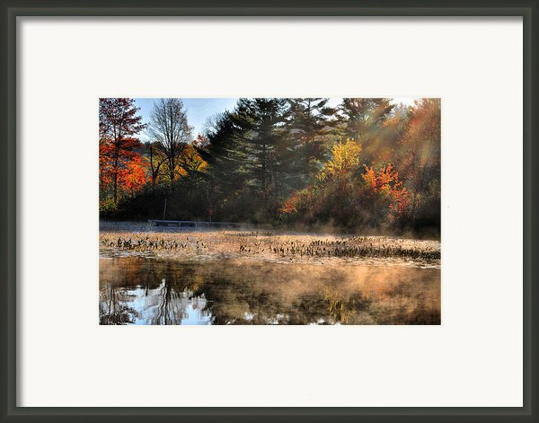 Fall Fog Rising Framed Print By Emily Stauring