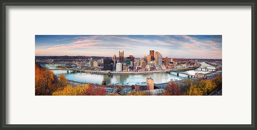 Fall In Pittsburgh  Framed Print By Emmanuel Panagiotakis