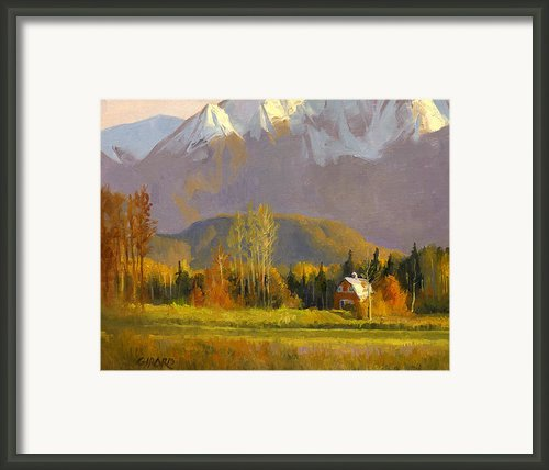 Fall In The Valley Framed Print By Douglas Girard