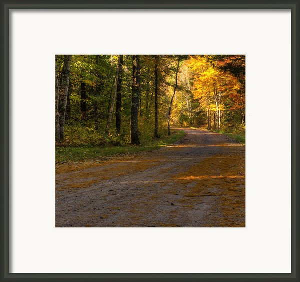 Fall Is Just Around The Corner Framed Print By Thomas Young