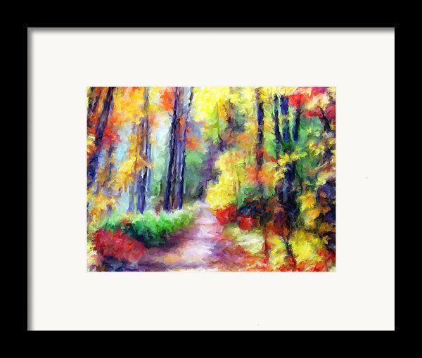 Fall Melody Framed Print By Marilyn Sholin