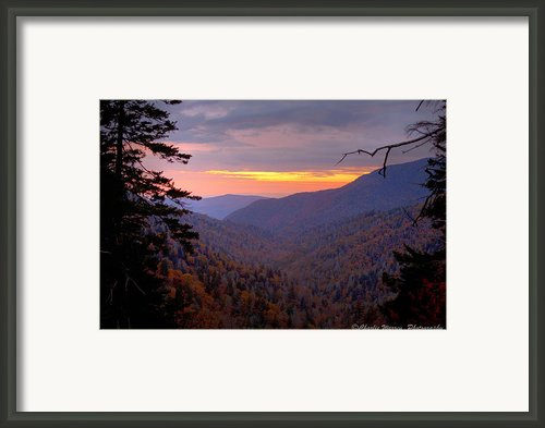 Fall Sunset Framed Print By Charles Warren