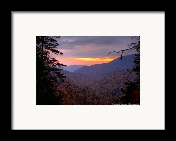 Fall Sunset Framed Print By Charles Warren