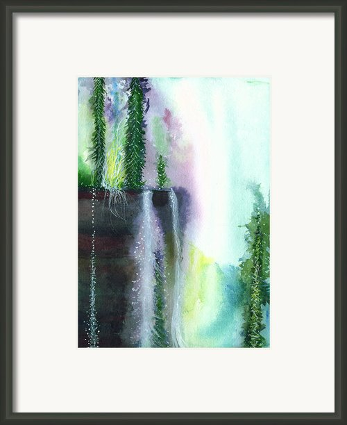 Falling Waters 1 Framed Print By Anil Nene