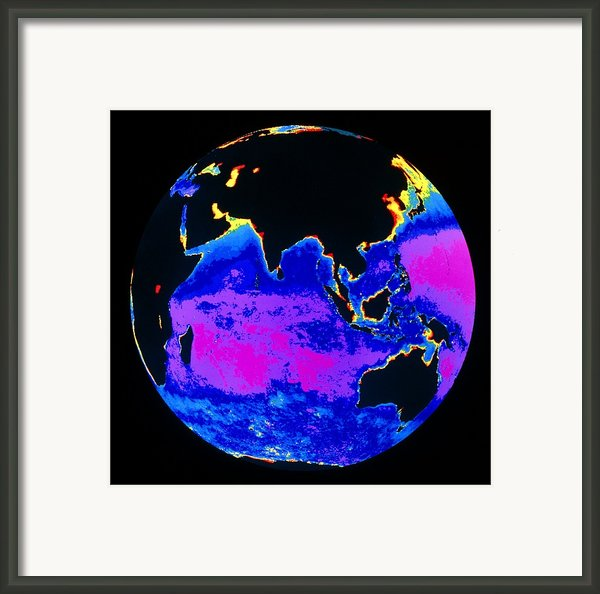 False Colour Image Of The Indian Ocean Framed Print By Dr Gene Feldman, Nasa Gsfc