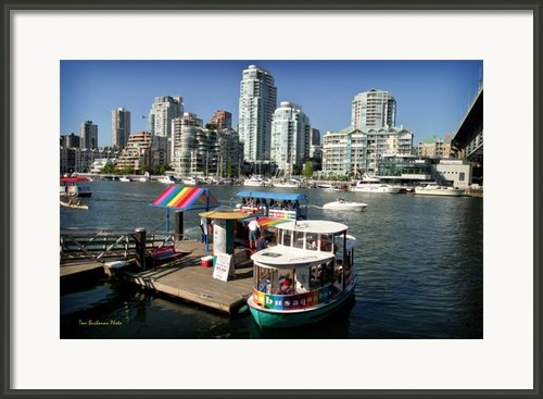 False Creek In Vancouver Framed Print By Tom Buchanan