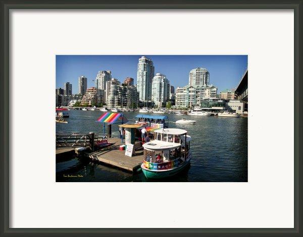 False Creek In Vancouver Framed Print By Tom Buchanan