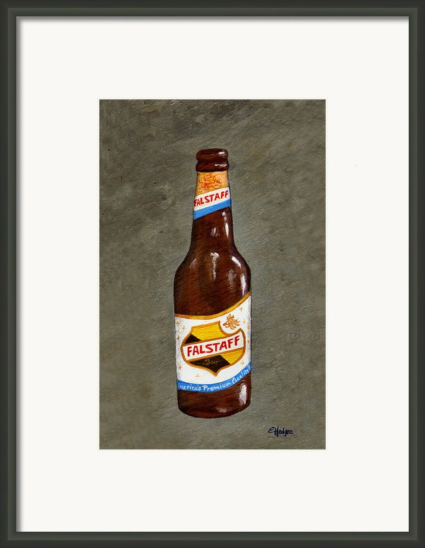 Falstaff Beer Bottle Framed Print By Elaine Hodges