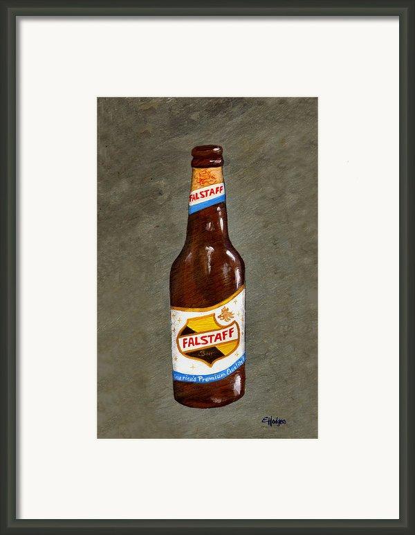 Falstaff Beer Bottle Framed Print By Elaine Hodges