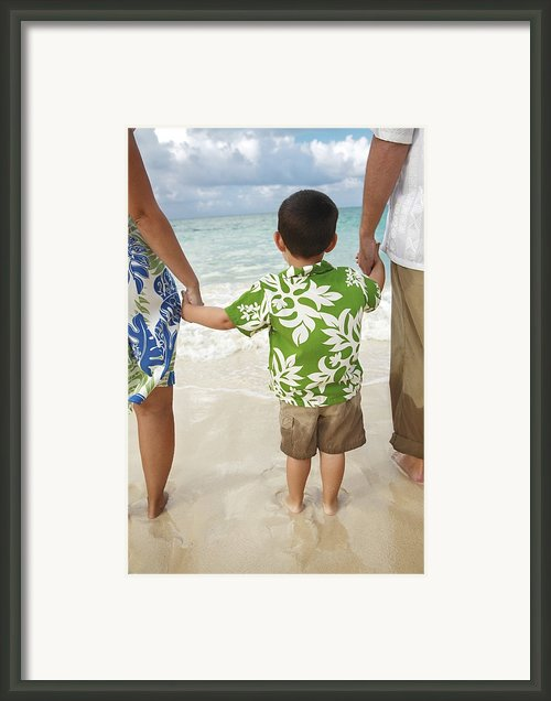 Family At Lanikai Ii Framed Print By Brandon Tabiolo - Printscapes