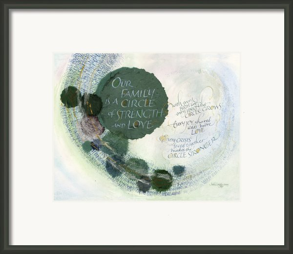 Family Circle Framed Print By Judy Dodds