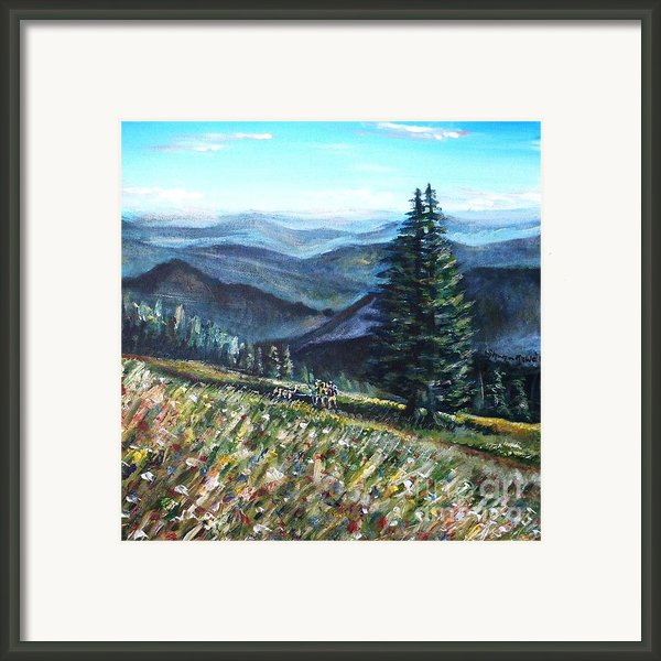 Family Hike Framed Print By Shana Rowe