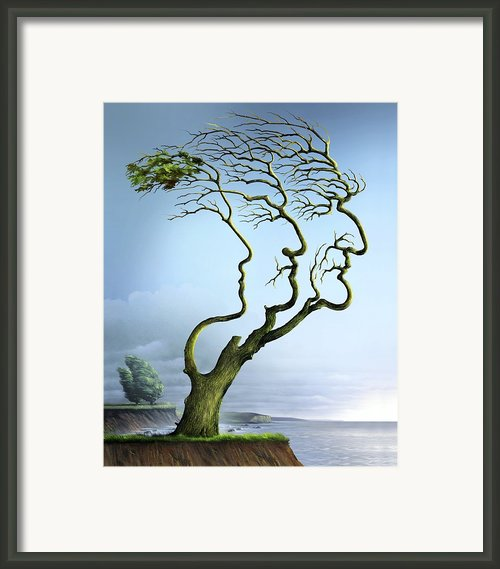 Family Tree, Conceptual Artwork Framed Print By Smetek