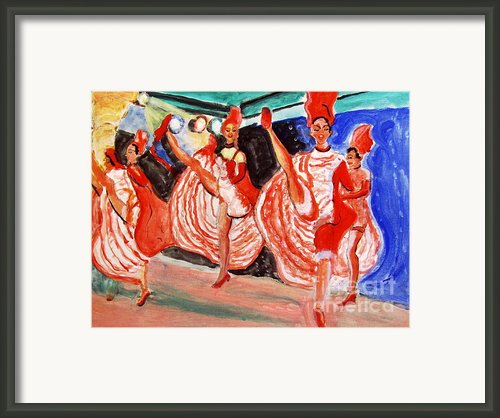 Famous French Cancan Framed Print By Stanley Morganstein