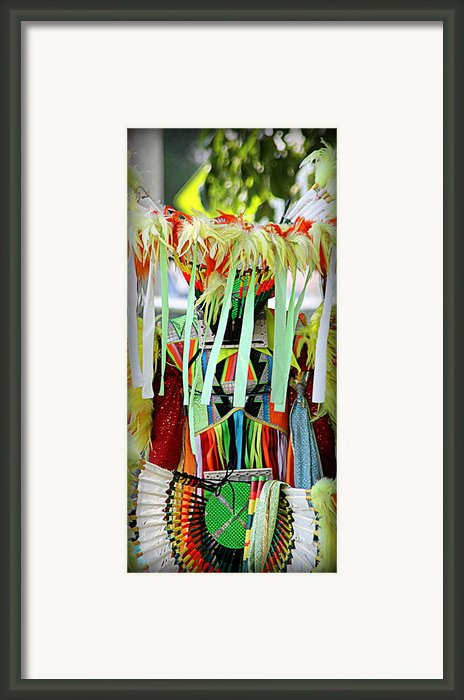 Fancy Dancer Costume - 1 Framed Print By Tam Graff