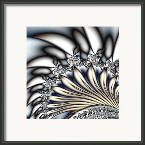 Fanfare - An Abstract Fractal Design Framed Print By Gina Manley